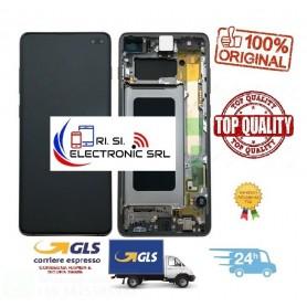 LCD DISPLAY (SAMOLED) ORIGINALE SAMSUNG S10 PLUS G975 + FRAME PRISM BLUE GH82-18849C