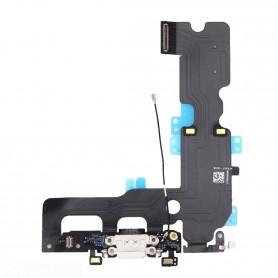 Iphone 7 plus bianco flat flex di ricarica connettore dock di ricambio - charging port flex cable for iphone 7 plus (white)