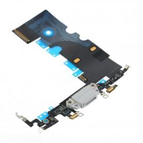 Connettore di ricambio flat flex di ricarica compatibile Apple iphone 8 bianco- charging port flex cable for iphone 8 (white)