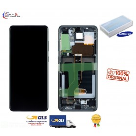 LCD DISPLAY (SAMOLED) ORIGINALE SAMSUNG S20 PLUS G986 5G COSMIC NERO GH82-22134A