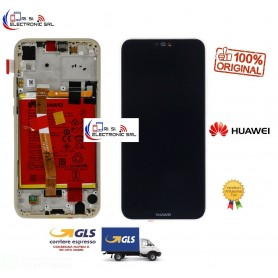 DISPLAY LCD ORIGINALE HUAWEI P20 LITE GOLD + FRAME ANE LX1 + BATTERIA