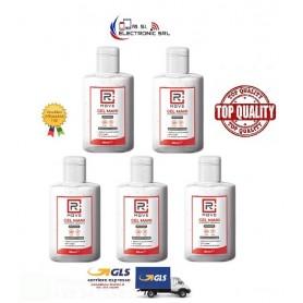 Set 5 pz flaconcini 80ml RMove Gel Igienizzante Mani Alcool 70%