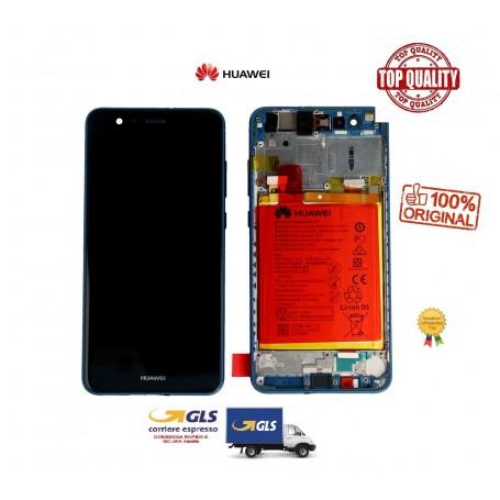 LCD DISPLAY ORIGINALE HUAWEI P10 LITE BLUE + FRAME + BATTERIA  02351FSL WAS-LX1A SERVICE