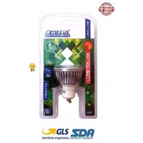 OMEGA LAMPADA LED FARETTO GU10 7W 7BULB 3000 DOPPIOBLISTER 400LM 50X55mm 50Hz 220V