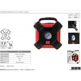 KOMBO COMPRESSORE ELETTRICO 12V,PRESSIONE MAX: 160PSI/1 1BAR ,TUBO DA 63CM + 3 ADATTATORI