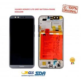 LCD DISPLAY ORIGINALE PER HUAWEI HONOR 9 LITE GREY BATTERIA+FRAME 02351SNR