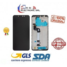 XIAOMI NOTE 6 PRO NERO ORIGINALE DISPLAY + FRAME 5606100640C7 SERVICE PACK
