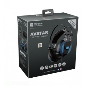 CUFFIE AVATAR X30 PRO  GAMING HEADPHONE COMPATIBILE PC, PS4 E XBOX CON REGOLATORE VOLUME E SWITCH MICROFONO ESTRAIBILE ALLUNGAB