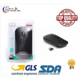 OMEGA MOUSE OM-411 OPTICAL WIRELESS 2,4GHZ 1000DP COLORE NERO
