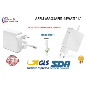 "ALIMENTATORE PER MACBOOK AIR CARICABATTERIA COMPAT. APPLE MAGSAFE1 45WATT  "" L"""
