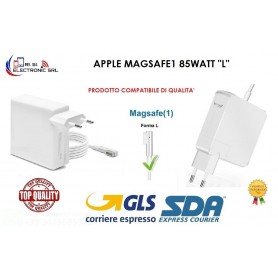 "ALIMENTATORE PER MACBOOK AIR CARICABATTERIA COMPAT. APPLE MAGSAFE1 85WATT  "" L"""