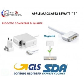 "ALIMENTATORE PER MACBOOK AIR CARICABATTERIA COMPAT. APPLE MAGSAFE2 85WATT  "" T """