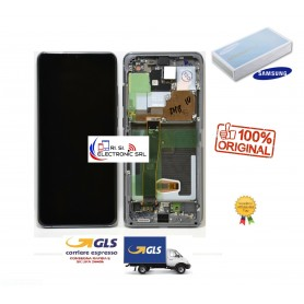 LCD DISPLAY ORIGINALE SAMSUNG S20 ULTRA G988 5G BIANCO/WHITE GH82-22327C