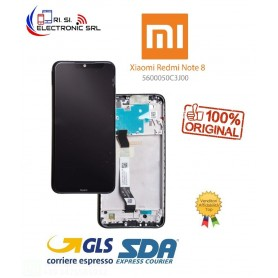 XIAOMI REDMI NOTE 8 NERO ORIGINALE DISPLAY + FRAME (M1908C3JG) SERVICE PACK