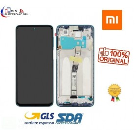 XIAOMI REDMI NOTE 9S AURORA BLUE ORIGINALE DISPLAY + FRAME (M2003J6A1G) SERVICE PACK