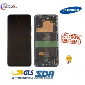 LCD DISPLAY (SAMOLED) ORIGINALE SAMSUNG A90 SM-A908F/DS NERO/BLACK GH82-21092A