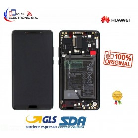 LCD DISPLAY ORIGINALE HUAWEI MATE 10 NERO FRAME ALP L29 ALP L09 + BATTERIA 02351QAH