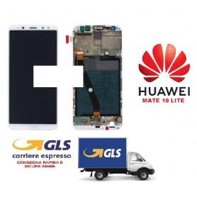 LCD DISPLAY ORIGINALE HUAWEI MATE 10 LITE GOLD/BIANCO  FRAME+ BATTERIA RNE L01 02351QXU