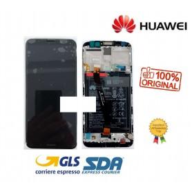 LCD DISPLAY ORIGINALE HUAWEI MATE 10 LITE BLUE FRAME RNE L23 L21 L01 + BATTERIA 0235PYX