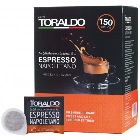 CAFFE' TORALDO BOX CIALDE 44MM MISCELA CREMOSA 150PZ