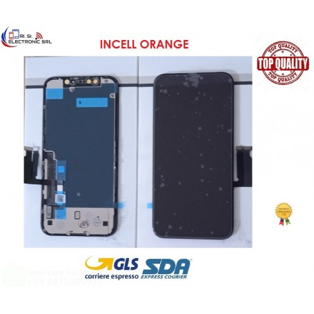 "LCD DISPLAY PER APPLE IPHONE XR NERO 6.1"" + TOUCH SCREEN E FRAME (SCHERMO OEM LG) GRADO A+++"