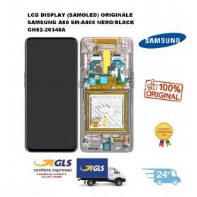 LCD DISPLAY (SAMOLED) DI RICAMBIO ORIGINALE SAMSUNG A80 SM-A805 NERO/BLACK GH82-20348A