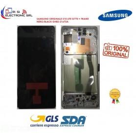 DISPLAY LCD (SAMOLED) ORIGINALE SAMSUNG S10 LITE G770 + FRAME NERO/BLACK GH82-21672A
