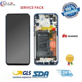 LCD DISPLAY ORIGINALE  HUAWEI P SMART Z BLUE FRAME + BATTERIA STK-LX1- 02352RXU