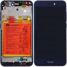 LCD DISPLAY ORIGINALE HUAWEI HONOR 8 LITE BLUE + BATTERIA + FRAME 02351VBP PRA-TL10