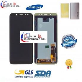 DISPLAY LCD + TOUCH SCREEN ORIGINALE SAMSUNG A6+ PLUS 2018 A605F/FN/DS NERO