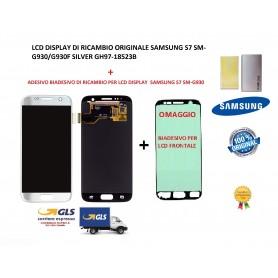 LCD DISPLAY (SAMOLED) DI RICAMBIO ORIGINALE SAMSUNG S7 SM-G930 SILVER + BIADESIVO