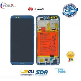 LCD DISPLAY ORIGINALE  HUAWEI HONOR 9 LITE BLUE FRAME+BATTERIA LLD-L31 02351SNQ