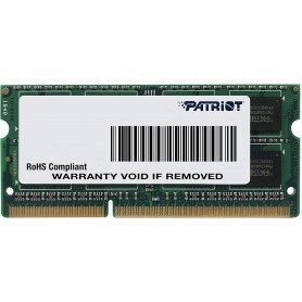 PATRIOT SODIMM MEMORIA SINGOLA DDR3 1600 MHZ PC3-12800 8GB (1X8GB) PSD38G16002S