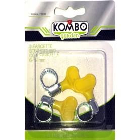 KOMBO SET 3PZ FASCETTE STRINGITUBO IN ACCIAIO CON  FARFALLA IN PLASTICA 1/2, 6-12 MM