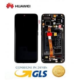 LCD DISPLAY ORIGINALE HUAWEI HONOR 10 GRAY FRAME+BATTERIA COL-L29 L09 AL00