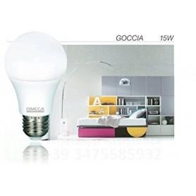 KIT 3  LAMPADINE OMEGA GOCCIA LED A65 15W 6000K 1350LM E27 A+  LUCE FREDDA