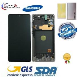 LCD DISPLAY (SAMOLED) ORIGINALE SAMSUNG NOTE 10 LITE N770 AURA GLOW (SILVER)