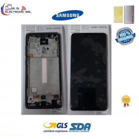 DISPLAY LCD + TOUCH SCREEN(SAMOLED) ORIGINALE SAMSUNG A52 SM-A525F/FN/DS  NERO