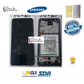 DISPLAY LCD (SAMOLED) + BATTERIA ORIGINALE SAMSUNG A52 5G SM-A526F/FN/DS BLUE