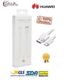HUAWEI AP71 CAVO FAST 5A M/M TYPE-C / USB 3,1 RICARICA VELOCE CAVO DATI 1 MT. BIANCO - CONF. DANNEGGIATA