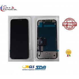 """DISPLAY LCD (INCELL) PER APPLE IPHONE 11 TOUCH FRAME NERO 6.1"""" GRADO A++"""