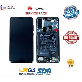 DISPLAY LCD ORIGINALE HUAWEI P20 PRO BLUE CLT L09 + L29 FRAME + BATTERIA