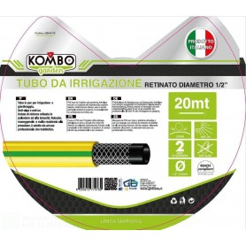 KOMBO TUBO RETINATO IN PVC ANTIALGA E ATOSSICO PERIRRIGAZIONE 1/2 20MT 100GR/MT