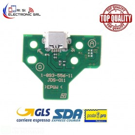 CONNETTORE RICARICA MICRO USB PCB 12 PIN JDS-011 CONTROLLER JOYPAD SONY PS4