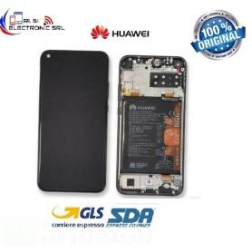 DISPLAY LCD ORIGINALE HUAWEI P40 LITE E ART-L28 TOUCH SCREEN NERO E BATTERIA
